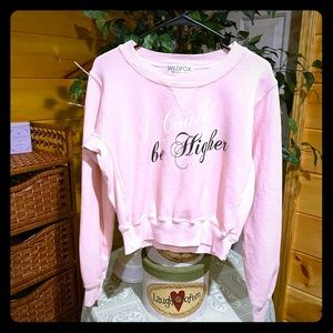 """Wildfox cropped sweatshirt """"I Could Be Higher"""""""